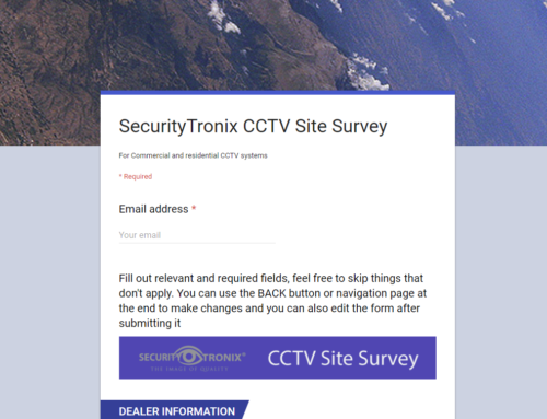 SecurityTronix Online CCTV Site Survey – A unique approach to quoting a CCTV system Bill of Materials